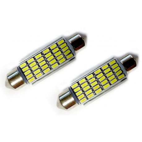 Veilleuses ampoules navette C10W à 30 Leds CANBUS
