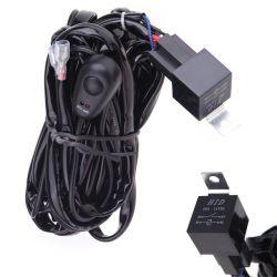 Cable relais avec interrupteur pour rampe et barre de LED