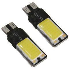Ampoules veilleuses à LED W5W T10 5W plates CANBUS - Blanc froid