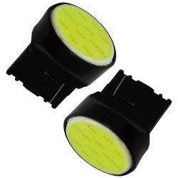 Veilleuses LED T20 COB ampoules LED W21W - blanc