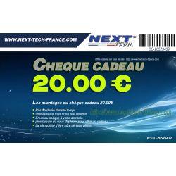 Chèque cadeau 20,00€ idée cadeau - Next-Tech®