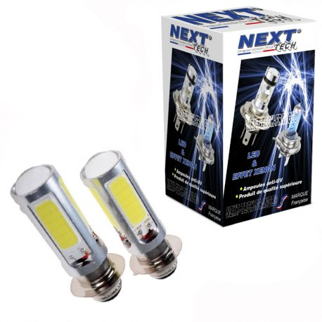 Ampoules BA20D 35W LED blanc - Next-Tech®