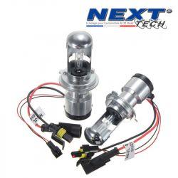 Ampoules bi xénon métal H4R 55W de rechange Next-Tech® vendues par paire