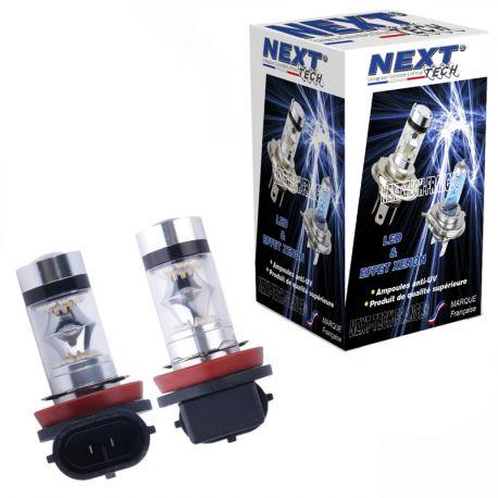 Ampoules H8 LED 35W 360° blanc - Next-Tech®