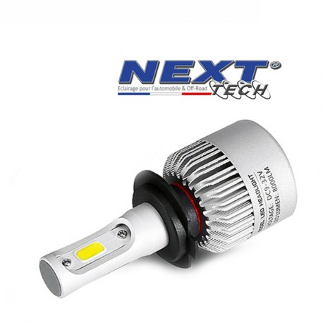 Ampoule LED moto ventilée H7 75W blanc - Next-Tech®