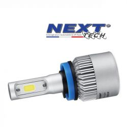 Ampoule LED moto ventilée H11 H8 75W blanc - Next-Tech®