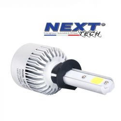 Ampoule LED moto ventilée H1 75W blanc - Next-Tech®