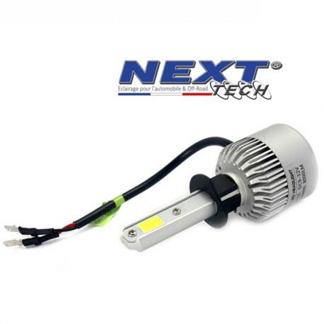 Ampoule LED moto ventilée H3 75W blanc - Next-Tech®