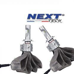 Ampoules LED H7 70W extra courtes - Tresse acier - Next-Tech®