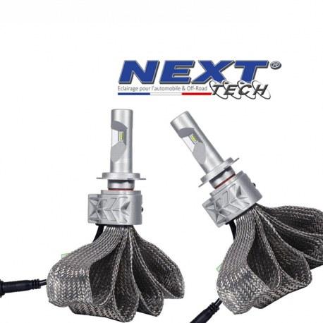 Ampoules LED H7 70W extra plates - Tresse acier - Next-Tech®
