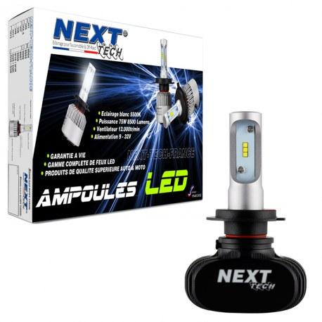 Ampoule LED moto H7 courtes 55W sans ventilateur - Next-Tech®