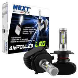 Ampoules LED H4 courtes 55W sans ventilateur - Next-Tech®