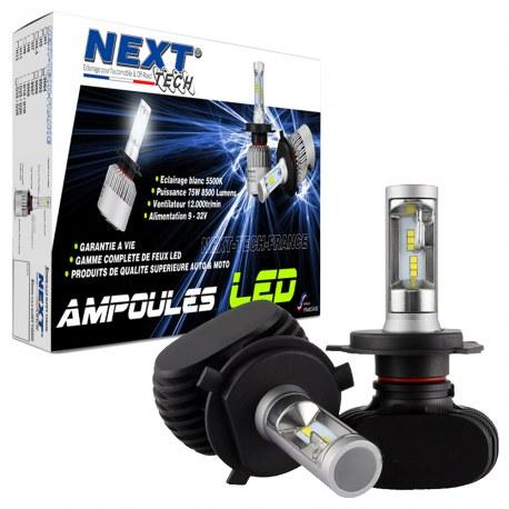 Ampoules LED H4 courtes 55W sans ventilateur - Next-Tech®