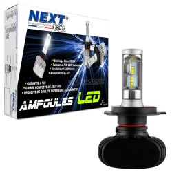 Ampoule LED moto H4 courtes 55W sans ventilateur - Next-Tech®