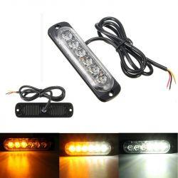 Feu de pénétration signalisation flash 12/24V 18W à 6 LED - Bicolore