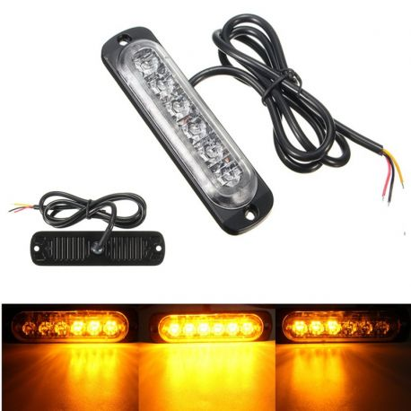 Feu de pénétration signalisation flash 12/24V 18W à 6 LED - Orange