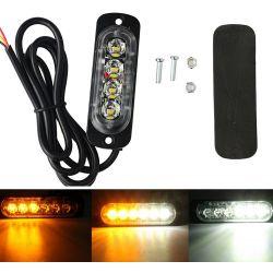Feu de pénétration signalisation flash 12/24V 12W à 4 LED - Bicolore