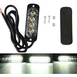 Feu de pénétration signalisation flash 12/24V 12W à 4 LED - Blanc