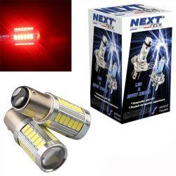Ampoules P21/5W LED rouge BAY15D 1157 CANBUS feu de stop et veilleuse