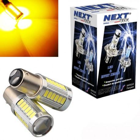 Ampoules P21/5W LED Orange BAY15D 1157 CANBUS clignotant