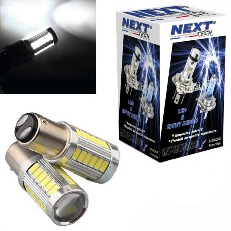 Ampoules P21/5W LED Blanc BAY15D 1157 CANBUS feux de jour