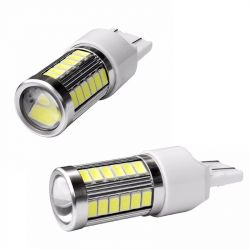 Veilleuses T20 LED W21W ampoules feux de jour - blanc
