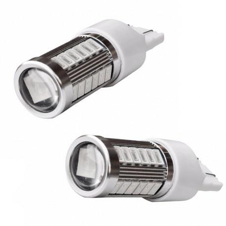 Veilleuses T20 LED W21W ampoules feu de stop - Rouge