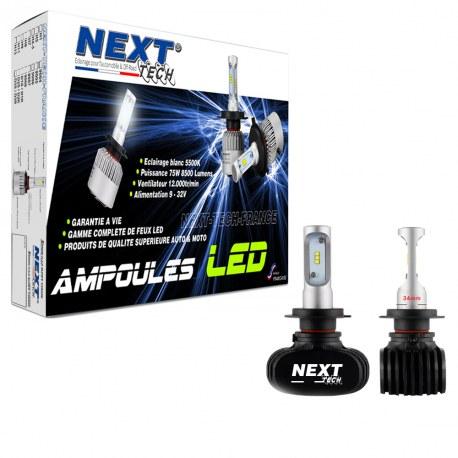 Ampoules LED H11 courtes 55W sans ventilateur - Next-Tech®