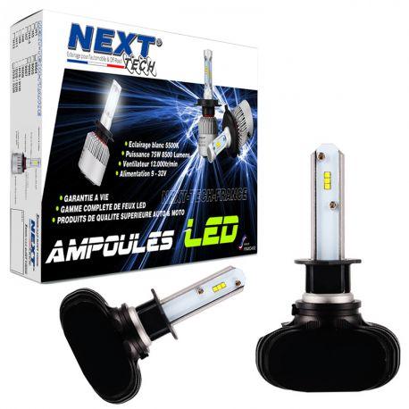 Ampoules LED H3 courtes 55W sans ventilateur - Next-Tech®