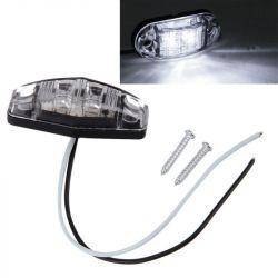 Feu de gabarit LED 12v pour remorque et voiture - Blanc