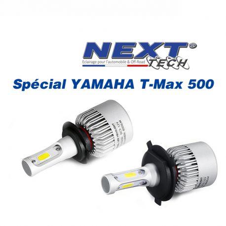 kit led tmax 500 yamaha h7 et h4 75w ventil e blanc. Black Bedroom Furniture Sets. Home Design Ideas