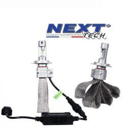 Ampoules LED HB3 9005 55W extra courtes - Tresse acier - Next-Tech®