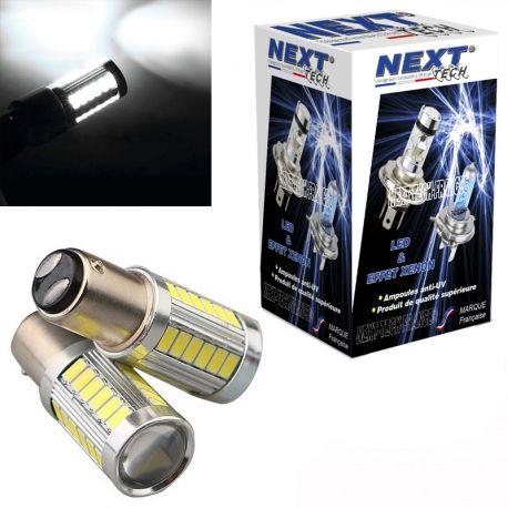 Ampoules P21/4 LED BAZ15D CANBUS feu de jour - Blanc