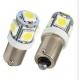 Ampoules veilleuses à LED BAU9S / 12V 10W décalée - Blanc