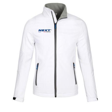 Veste blanche Softshell homme Next-Tech® France