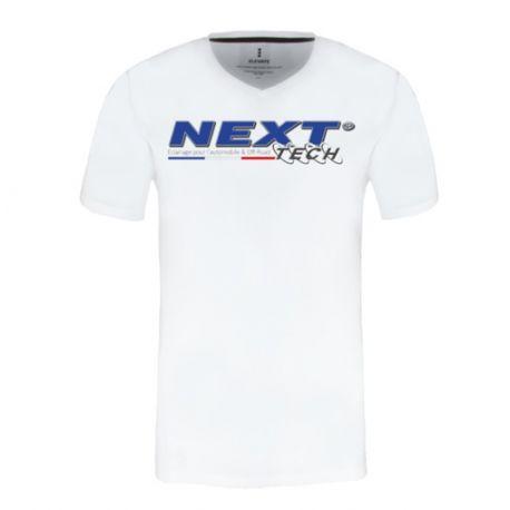T-Shirt blanc col en V homme Next-Tech® France