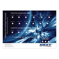 Présentoir gamme d'ampoules LED automobile 840 x 590mm - Next-Tech® France