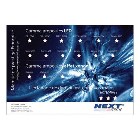 Présentoir gamme d'ampoules LED automobile 840 x 590mm - Next-Tech® France