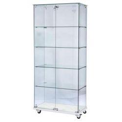 Vitrine en verre double porte avec verrou - Next-Tech® - 1800 x 800mm