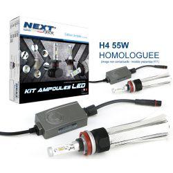 Ampoules LED voiture H4 55W homologuées 6000lm Canbus - Next-Tech®