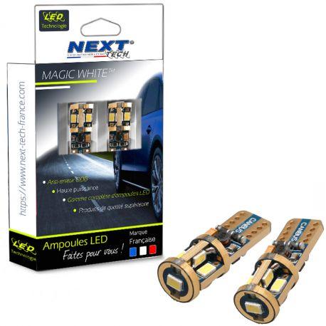 Ampoules veilleuses 12V T10 - W5W LED Super Canbus anti-erreur ODB - GOLD