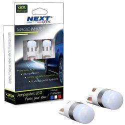 Veilleuses LED T10 W5W - Next-Tech - Blanc neutre