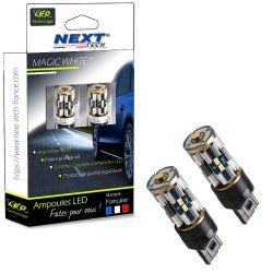 Ampoules LED T20 W21/5W - Canbus - Anti-erreur ODB - Blanc