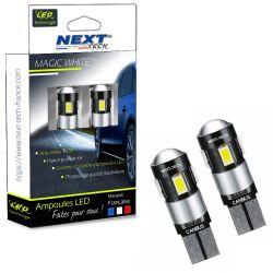 W5W LED T10 - CANBUS - Anti erreur ODB - Blanc