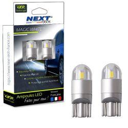 Veilleuses T10 LED W5W Voiture - Auto - Moto - Blanc