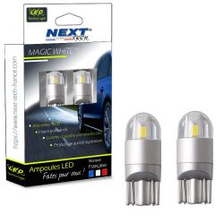 Ampoules T10 LED W5W Voiture - Auto - Moto - Orange