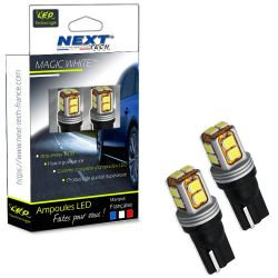 Ampoules LED T10 W5W - CANBUS - haut de gamme - Blanc