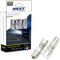 Ampoules LED P21W BA15S 35W 360° feu de jour - Blanc - Next-Tech®