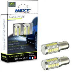Ampoules P21W LED blanc BA15S 1156 CANBUS veilleuses feux de jour