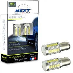 Ampoules P21W LED 24V Orange BA15S 1156 CANBUS clignotants pour camion